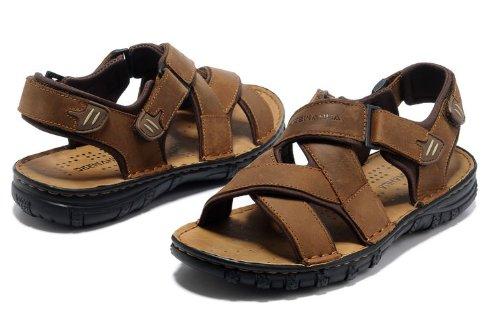 Deewahua 新款透气时尚潮流男士日常户外沙滩鞋 溯溪鞋 登山凉鞋 徒步鞋