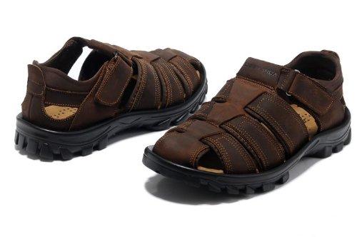 Deewahua 新款包头防踢透气时尚潮流男士日常户外沙滩鞋 溯溪鞋 登山凉鞋 徒步鞋
