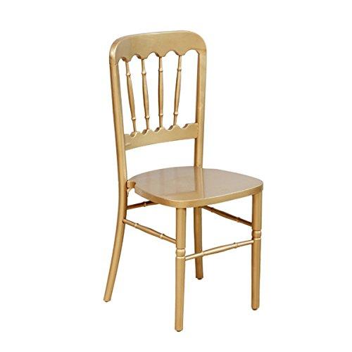 实木餐椅欧式城堡椅复古实木咖啡厅奶茶店星巴克实木椅设计师椅 (金色