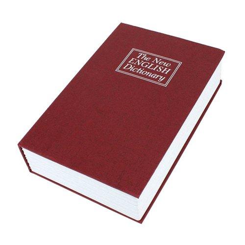 妙诺英语红色藏金箱保险箱库存存钱罐迷你保险柜(大号,面料)字典书本出售图片