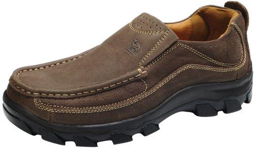 Camel 正品 2013新款 大头工装鞋 年轻时尚鞋 头层皮 超酷美国战靴 户外休闲鞋 舒适鞋男鞋 A1108002 暗棕色 44