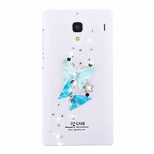 水钻外壳 红米手机保护套 小米水钻保护套 红米手机壳 连体蝴蝶