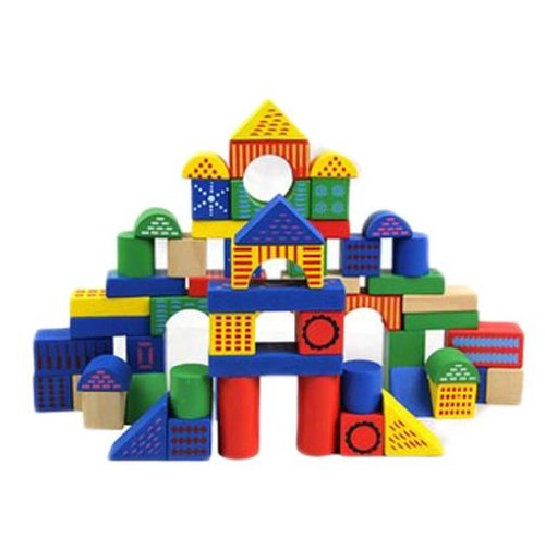 回至 好幼礼 【桶装】印花积木 木质积木儿童益智玩具 搭建积木