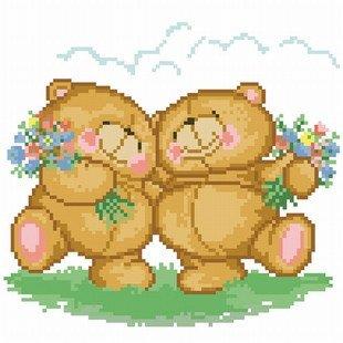dmc 多美绣 大幅客厅卧室欧式卡通油画安德鲁小熊 法国 十字绣 11ct 3