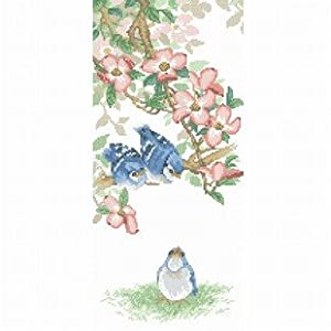 dmc 多美绣 大幅客厅卧室欧式动物油画鸟儿的聆听 法国 十字绣 11ct