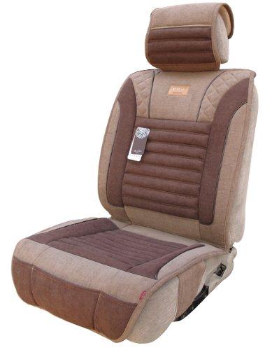 紫风铃 汽车坐垫亚麻四季通用垫 咖啡色-图片