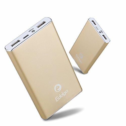 艾德加Eddga E855 10000毫安移动电源 多功能充电宝 聚合物电芯安全保障 智能开关机 智能电控 双USB输出 钢琴烤漆外壳 引领时尚 (适用于苹果iphone/HTC/摩托罗拉/三星/诺基亚 / MP3MP4/ PSP/ NDS/ ipod /照相机以及各品牌手机等所有USB接口设备)土豪金-图片