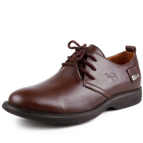 Mrcamel 骆驼 彰显型男阳刚气质 意式英伦风格男士休闲鞋 真皮系带舒适柔软透气 正装商务流行皮鞋 个性男鞋