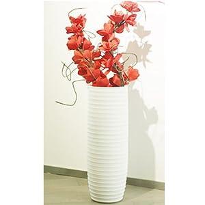 宝齐莱 超大陶瓷落地花瓶 现代欧式客厅大花瓶白色家居装饰品a385 a