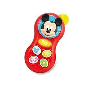 英纷 迪士尼婴儿玩具米老鼠手机牙胶0-1岁幼儿宝宝米奇米妮0638d 红色