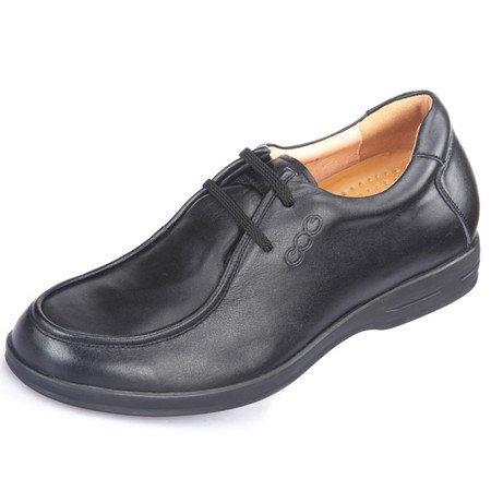 Gog 高哥 增高鞋男式 男士隐形商务增高鞋 男士内增高商务休闲鞋 增高6.5cm /厘米 头层牛皮系带时尚简约大气 WZ1101(1102)-15