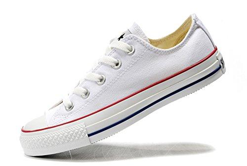 Converse 匡威 经典款 中性 白色低帮 帆布鞋 101000