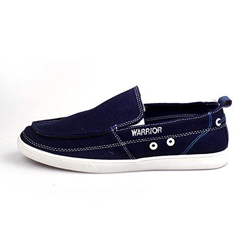 Warrior 回力 夏季男鞋 低帮一脚蹬 韩版潮流男鞋 透气帆布鞋3079