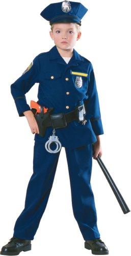 儿童警察服装 如图所示 大