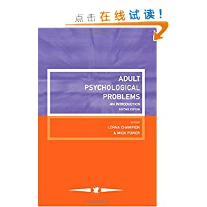 Adult Psychological Problems An Introduction