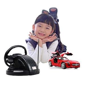 星辉车模1:14奔驰sls遥控汽车模型 模拟驾驶方向盘遥控儿童高清图片