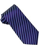 efancy紫色条纹真丝领带 面试工作正装男士领带 商务休闲正装领带(成分:100%真丝)
