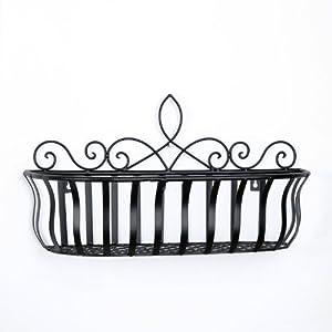 滢发铁艺 欧式风格 时尚壁挂园艺阳台花盆架 花园花篮