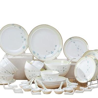 huaguang ceramics华光陶瓷翩翩起舞56头礼盒餐具套装图片
