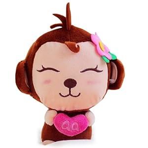 甜蜜城堡 毛绒玩具布娃娃 可爱的qq猴子公仔玩偶 (深色款)