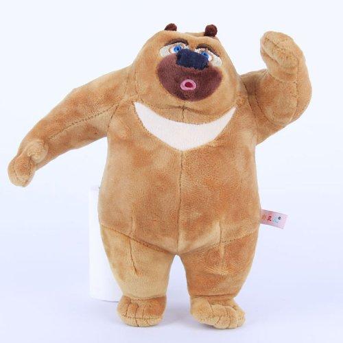 舒贝儿熊大 熊二 毛绒玩具熊出没 熊大 熊二 公仔 六一儿童节礼物 (48