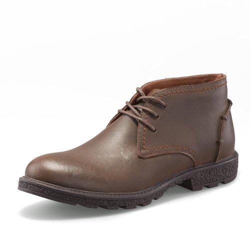 MR CAMEL 经典骆驼 夏天男子户外工装靴牛皮鞋男性休闲鞋男鞋子英伦风潮男靴子真皮靴7319