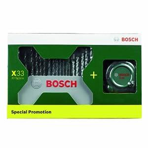再降价 Bosch 博世 33支附件(冲击钻钻头) 加卷尺促销装 69元包邮