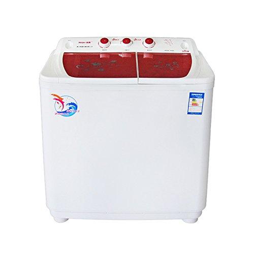 Haipu 海普 XPB90-689S/洗衣机/波轮/半自动/9kg/双缸双桶/静音 酒红色-图片
