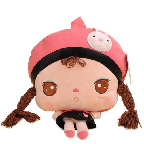 安吉拉娃娃 可爱儿童书包 小学生幼儿宝宝背包幼儿园男女韩版卡通 六