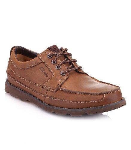 CLARKS 其乐 牛皮材质系带设计男士休闲鞋