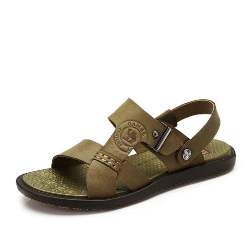 Camel 骆驼 男鞋2014夏季新款透气沙滩鞋磨砂牛皮休闲舒适男凉鞋A422344003
