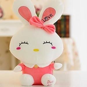毛绒玩具情侣卡通love可爱小白兔子公仔大号布娃娃