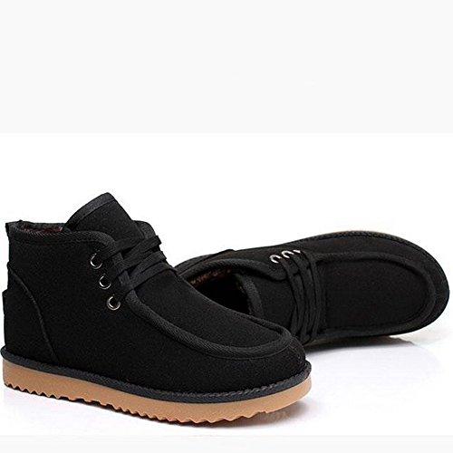 贝克汉姆同款时尚雪地靴潮男休闲男鞋加绒保暖棉靴潮流短靴高帮棉鞋