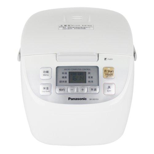 Panasonic 松下 SR-DG153 电脑型电饭煲 白色(底部波纹远红外两面黑锅、多功能料理、人性化设计)