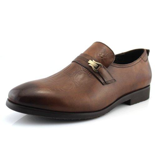 KING 蜘蛛王 男鞋 新款商务休闲单鞋 套脚男士皮鞋132a343099