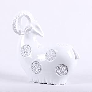 thinker 思想者 树脂 白色 可爱绵羊 动物造型雕塑