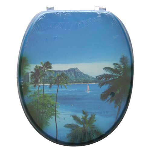 高级印花马桶盖 海南风景图案图片