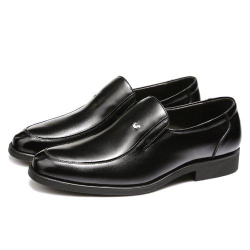 富贵鸟 经典商务休闲鞋 时尚真皮正装鞋 百搭皮鞋 英伦懒人套脚 简约男鞋