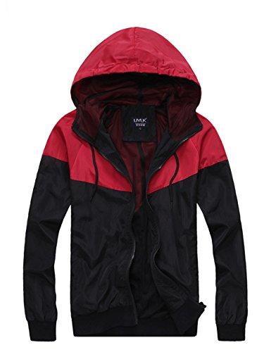 UYUK 有衣有靠 2014秋季男装新款 韩版撞色款薄款外套 连帽休闲夹克 男士夹克衫 j002