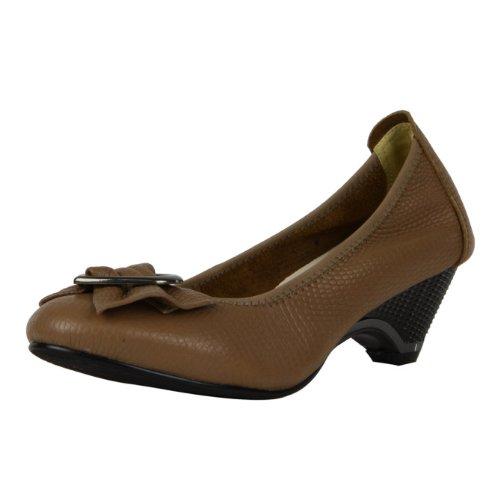 牛皮女鞋圆头单鞋粗跟中
