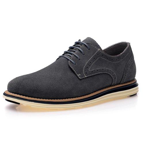 VanCamel西域骆驼 户外时尚休闲款 都市板鞋 旅行轻便款 防滑耐磨底 反绒牛皮质 舒适男鞋