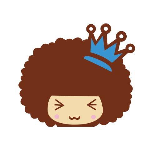 ky 卡艺 汽车贴纸 mocmoc 摩丝娃娃蓝色皇冠 汽车划痕贴 搞笑可爱卡通