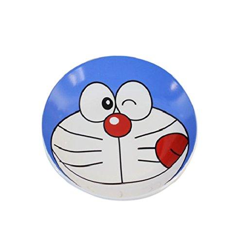 fresh&lock创意机器猫叮当猫陶瓷表情盘 可爱卡通水果点心零食碟子 (6