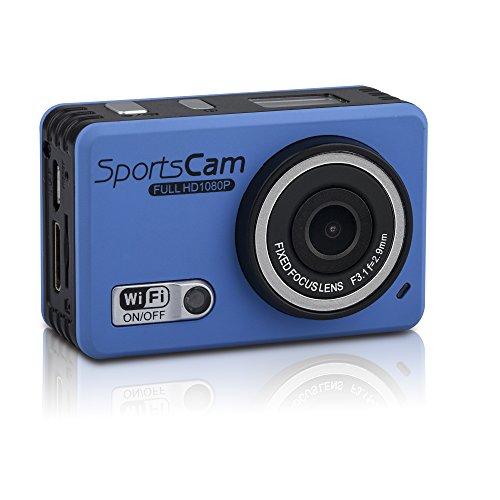 嘉德诺  WIFI高清版 防水摄像运动机 户外运动摄像机 1080P高清拍摄 wifi防水行车记录仪 拍照录像 极限运动拍摄 防水运动摄像机 (外贸版配4G内存, 蓝色)-图片