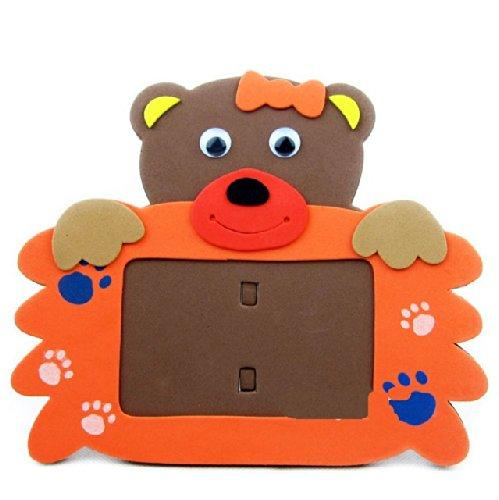 海鲸eva手工动物相框 手工拼装eva粘贴画立体贴画儿童玩具生日礼物