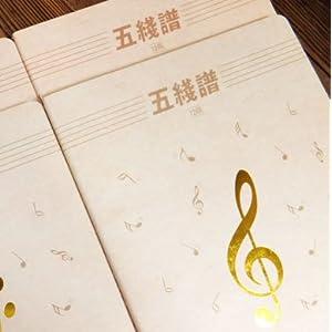 6开 本木空白五线谱 3270音符乐谱本记录本子 简约系怎么样,好不好