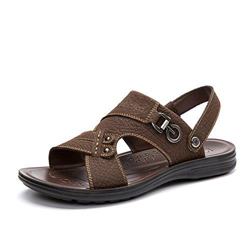 MULINSEN 木林森 男凉鞋真皮休闲鞋夏季热销透气凉拖鞋两穿韩版潮流沙滩鞋
