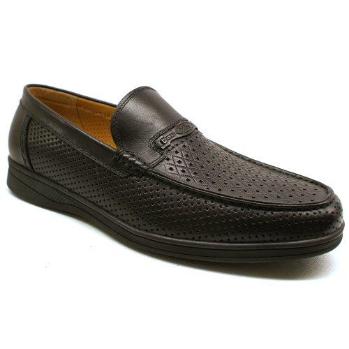 Goldlion 金利来 正品 免邮 牛皮 韩版英伦 透气镂空凉鞋 商务休闲 舒适套脚 男凉鞋