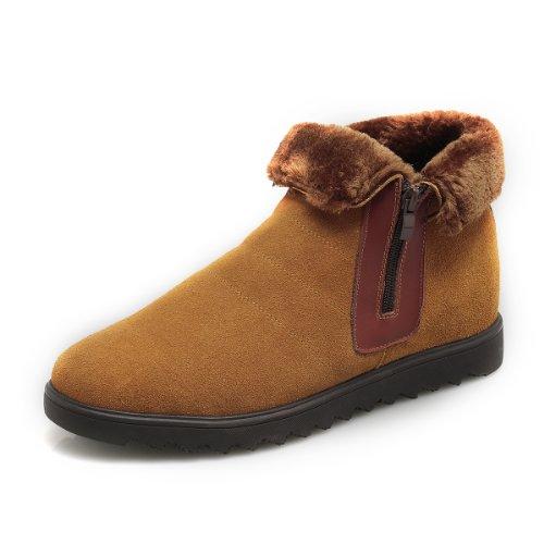 GOG 高哥冬款英伦男式时尚雪地靴休闲男鞋 增高6.5cm 高哥韩版休闲内增高雪地靴男鞋 C41351