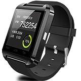 Uwatch U8uwatch智能手表 蓝牙手表 智能穿戴式手环腕表手机 可同步电话簿 听音乐 同步手机打电话 防丢失蓝牙手表 (黑)-图片